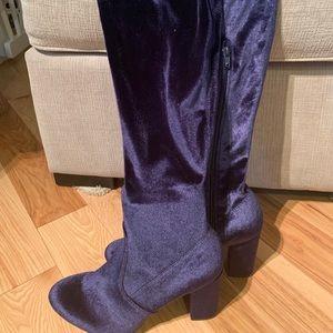 Sapphire Blue thigh high booties
